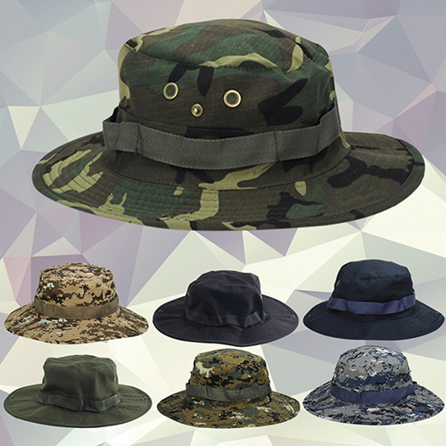 Unisex Woodland Fishing Travel Military Sun-proof Camo Boonie Hat