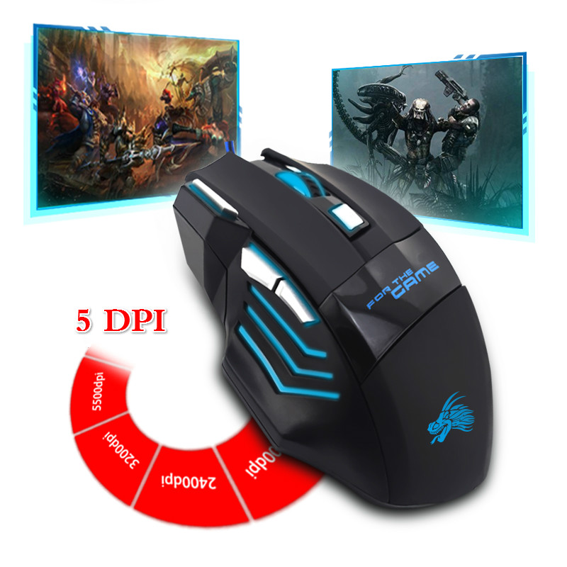 Image 3 - Wire Mouse 7 Buttons 5500 DPI Gaming Mouse Computer Gamer Mice for PC Laptop Notebook Game Gamer-in Mice from Computer & Office