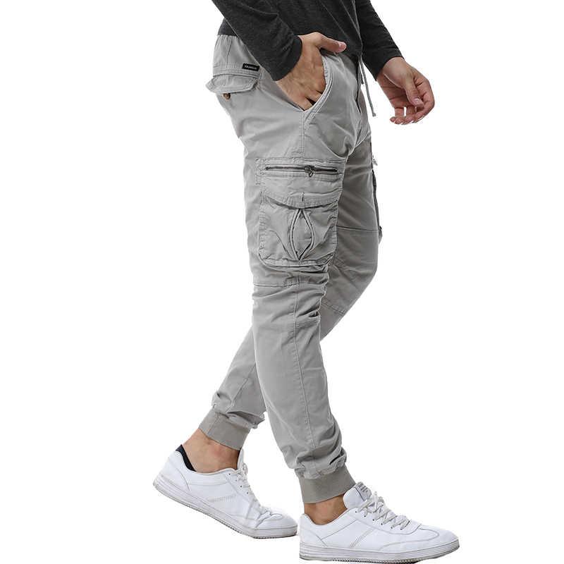 2019 модные весенние мужские s тактические карго Мужские штаны для бега армейские военные повседневные хлопковые брюки хип хоп ленты мужские армейские брюки 38