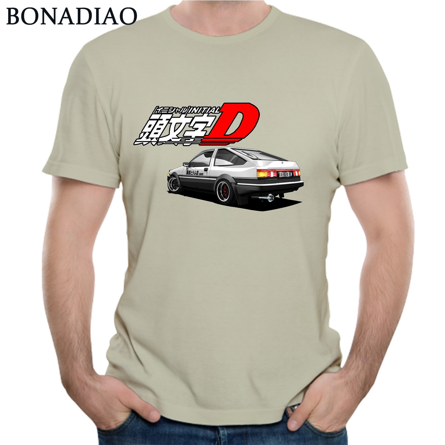 Initial D AE86 T Shirt Japanese Anime Ae 86 Shift Homme