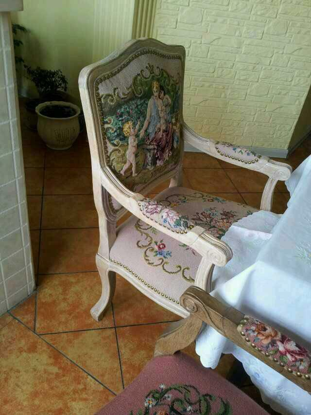 Free Shipping 10K+20K chair cover, needlepoint woolen handmade chair covers with arms