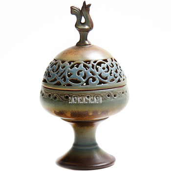 Handmade Ceramics Censer Creative Aroma Burner Sandalwood Incense Coil Towers Incense Burner Home Gifts With Base 4hour