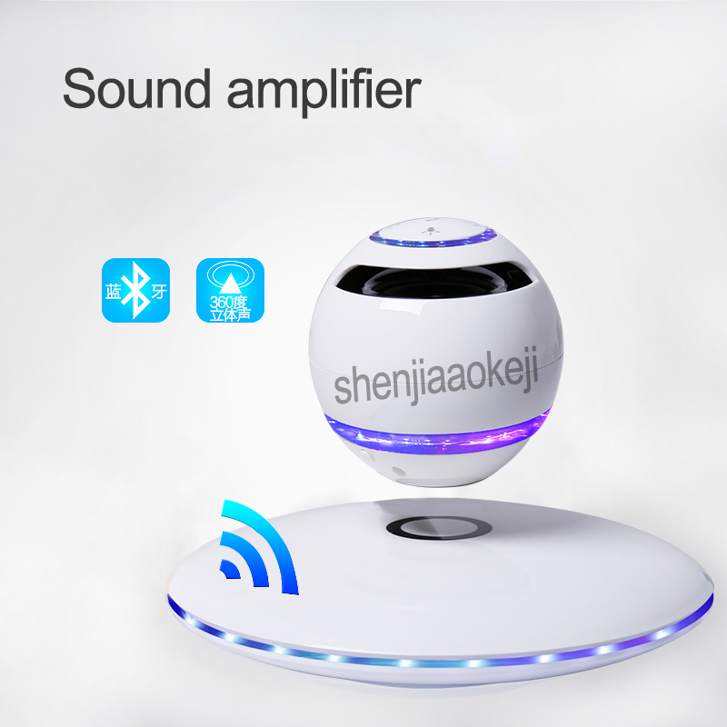 NEW Magnetic Levitation Audio Wireless Bluetooth Speaker Mini Suspended Sound Home Sound amplifier Subwoofer 5v 3w 1pcNEW Magnetic Levitation Audio Wireless Bluetooth Speaker Mini Suspended Sound Home Sound amplifier Subwoofer 5v 3w 1pc