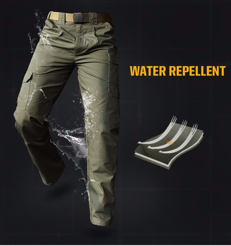 Out door Quick dry Traveling Multi-pockets overalls Men's Army Tactical Anti-scrape Water repellent Trousers male Casual Pants