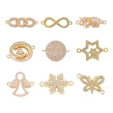 Juya DIY комплектующие для изготовления ювелирных изделий поставки золото/серебро животные Шарм Разъемы для женщин серьги браслеты ожерелье ручной работы