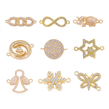 Juya DIY Jewelry Making Components Supplies Gold Animal Charm Connectors For Women Earrings Bracelets Necklace Handmade