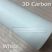 100x400CM/Roll White 3D carbon film Waterproof DIY Car Motorcycle Sticker 3D Carbon Fiber Vinyl Wrapping film decoration film