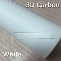 White 3D carbon film Waterproof DIY Car Motorcycle Sticker 3D Carbon Fiber Vinyl Wrapping film decoration film