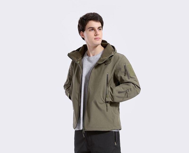 Softshell Men Thermal Jackets Ашық Кампинг Windbreaker - Спорттық киім мен керек-жарақтар - фото 5