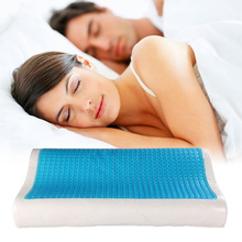 Sueño Azul de Refrigeración de Espuma de memoria Almohada Ortopédica Comfort Gel Almohada Casa Cojín de Cama Suave Protección Del Cuello Almohada de Memoria