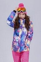 Gsou снег Для женщин лыжная куртка сноуборд куртка Водонепроницаемый ветрозащитная спортивная одежда Лыжный спорт Сноуборд супер теплая оде