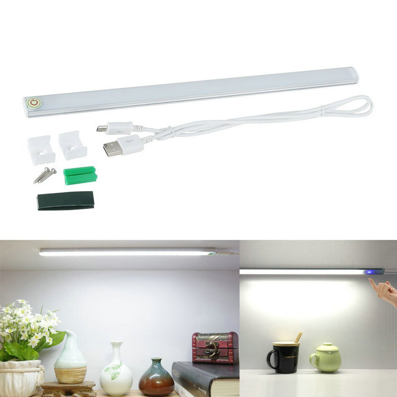 1PC USB 21Led Cabinet Lamp 6W Touch Sensor Dimmable Tube Rigid Light Bar Bedside Bedroom Closet Wardrobe Night Lighting DC5V