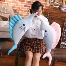 Swordfish Ocean Marine Animal Plush Toy Sofa Pillow Cushion Appease Doll Baby Kids Children's Toys Gift Home Decoration
