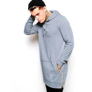 Image 5 - Бренд Jogger уличная Мужская толстовка в стиле хип хоп повседневное длинное пальто осень зима модная мужская одежда из чистого хлопка