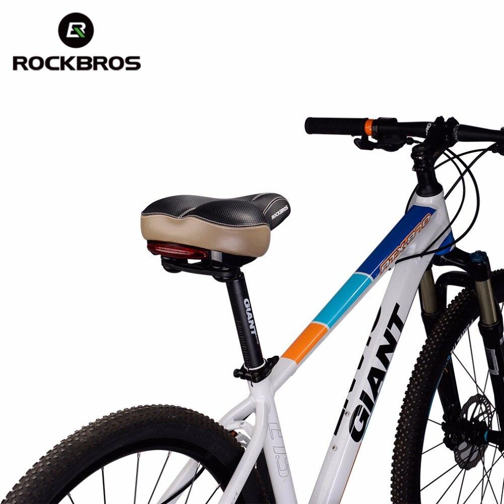 Bersepeda Sepeda Silikon Comfort Penutup Sadel Model Alur Saddle Silicone Mat Seat Cover Empuk Sj0037 Rockbros Lebar Lampu Belakang Pelana Nyaman Lembut Musim Semi Redaman Bantal