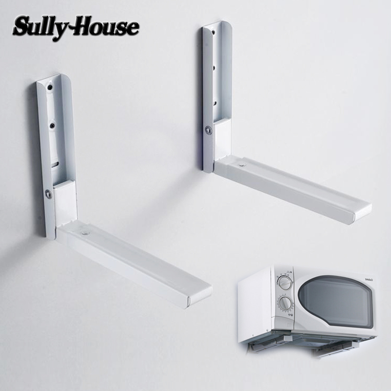 Sully House Goods Cast Iron Multifunctional Microwave Oven Shelf Rack Adjustable Standing Type Double Kitchen Storage