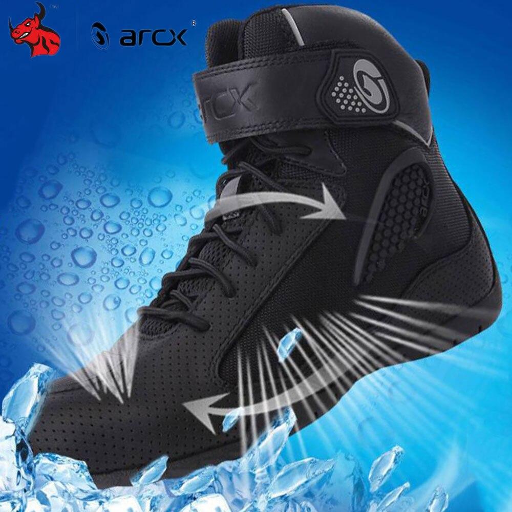 ARCX Motorcycle Boots Breathable Men Moto Boots Black Motorcycle Riding Boots Motorcycle Shoes Four Seasons Casual