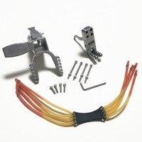 Mechanical slingshot DIY accessories 25*25mm pedal sliding module Stainless steel trigger Strong rubber band Slingshot accessori