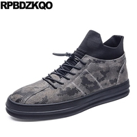 Booties Fur Warm High Top Thick Soled Black Shoes Trainer Sneakers Winter Ankle Casual Camouflage Men