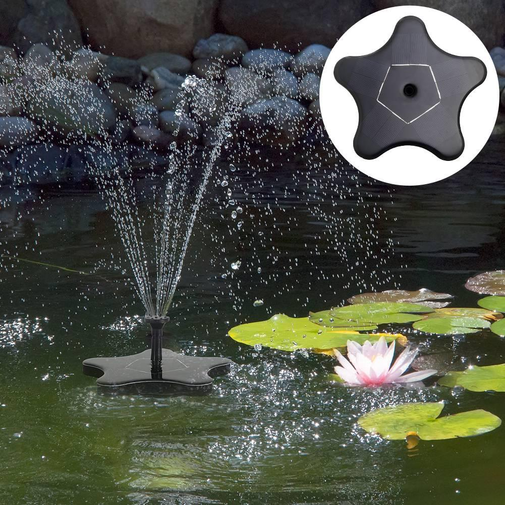 Led Underwater Lights Led Lamps Fashion Style Adeeing 1.6w 8v Flower Solar Power Water Pump Floating Fountain Pump For Garden Birdbath Pool Watering Wide Irrigation Pumps