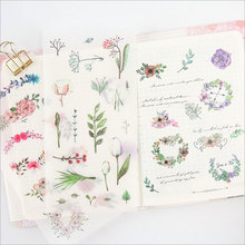 6pcs/lotLandscape illustration Paper sticker child diy Photo album decoration scrapbooking stationery