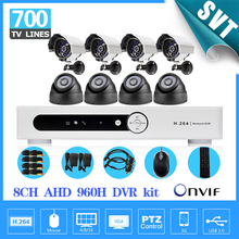 DIY Security kit camera system 8CH cctv DVR NVR 700TVL color outdoor Waterproof indoor cctv camera video surveillance SK-200