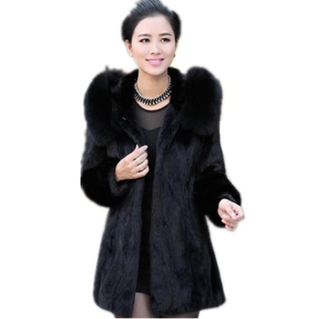 Faux Fur Coat Female Hooded Winter Long Coats 2020 High Quality Women's Fur Coat Elegant Black Fur Jacket Long Coat Of Faux Fur thicken fur faux fur coat female korean version of the fashion slim in the long hooded raccoon fur fur coat womens fur jacket