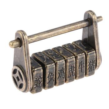 DRELD 1Pc Antique Bronze chiński stary Keyed kłódka Retro kombinacja blokada biżuteria Box kłódka meble dekoracja drzwi tanie i dobre opinie Zamek okno Antique Bronze Padlock 27*44mm Zinc Alloy Approx 27*44mm 1 06*1 73inch Approx 3mm 0 12inch Approx 30mm 1 18inch