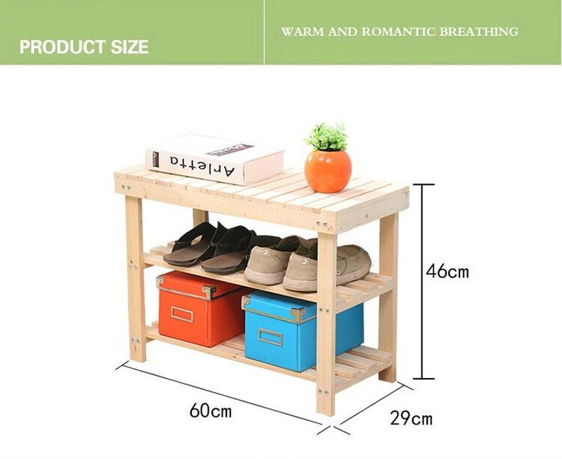 solid wood shoe shelf
