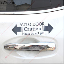 Automatic Glass Home Auto Door Window Warning Caution Decal Business Car Sticker For BMW Ford Honda VW skoda seat Mazda Toyota automatic glass home auto door warning caution decal business car sticker for bmw ford honda vw skoda seat mazda toyota nissan