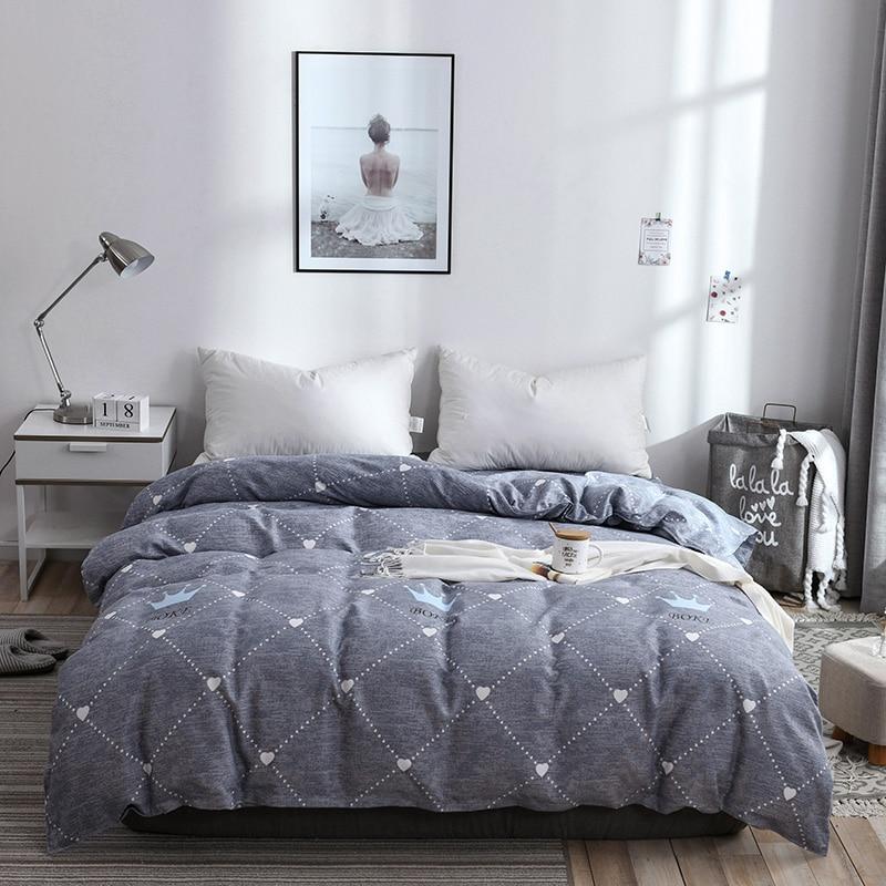 1 pièces Housse de couette Blanc Étoile Motif Housse De Couette Soins De La Peau De Fiber De Polyester Coton Literie 150x200 cm/180x220 cm/200x230 cm Taille