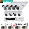 Eyedea 8 CH Remote View Video Audio DVR 2 0MP 1080P Bullet Outdoor LED Surveillance CCTV