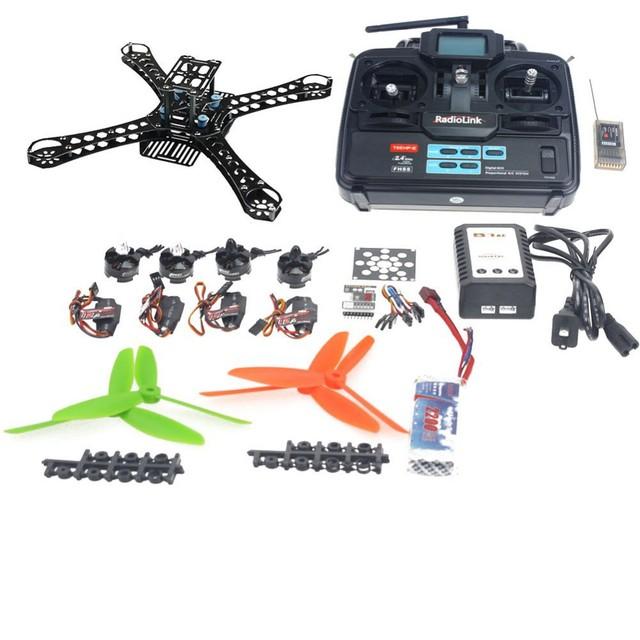 Mini Ejes RC Quadcopter Kit QQ Súper Junta de Control de Vuelo + MT16-S 2300KV Motor + ESC 12A + 6045 de la Hélice + Transmisor 6Ch F14889-D