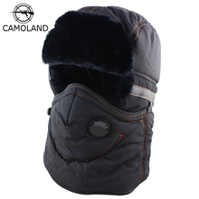 Winter Hat Men Women Bomber Hat with Scarf Anti-haze Mask Russian Ushanka Thermal Trapper Hat Trooper Earflap Snow Ski Balaclava cheap Bomber Hats Faux Fur Polyester Cotton Unisex JWH584 Solid CAMOLAND Adult Bomber Hats Trapper Trooper Hat Fashion Black Navy Brown