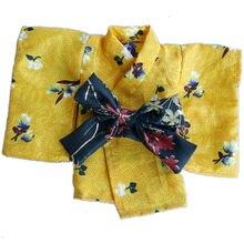 wamami Kimono Yellow Flower Bathrobes Clothing Coat 1 6 SD DOLL BJD Dollfie