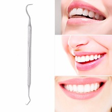 1PC Stainless Steel Double Hook Tooth Dental Explorer Dentalist Probe Materials Dentist Tool Set