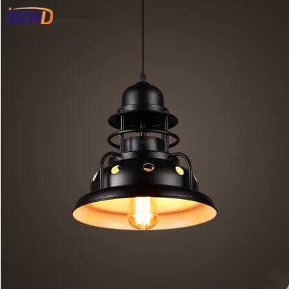 IWHD Loft Style LED Pendant Light Industrial Vintage Pendant Lamp Iron Retro Droplight RH Hanglamp Fixtures For Home Lighting iwhd style loft industrial vintage hanging lamp led bedroom glass ball pendant light fixtures kitchen retro iron lighting