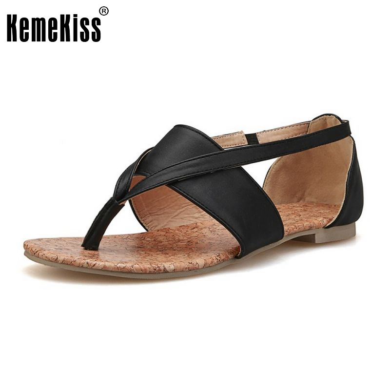 Size 33-43 Gladitor Flats Sandals Brand Flip-flops Flat Sole Sandals Summer Slippers Women Flats Ankle Strap Sandals Hot PA00279