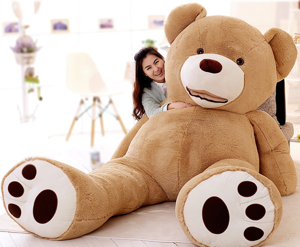 200CM Giant Teddy Bear plush toy Kawaii Big mouth Teddy Bear stuffed doll Cartoon Big Teddy Bear kids toys Valentine's Day Gifts