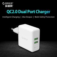 ORICO QCK 2U 2 Port Compact And Portable Travel Wall Charger With Quick Charge 2 0