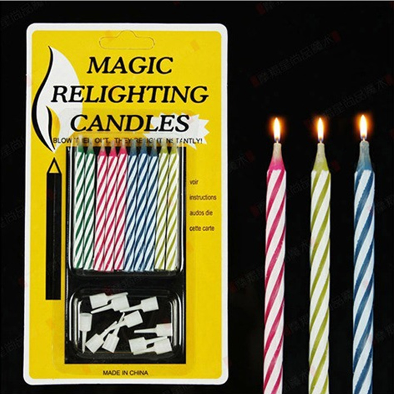 2set20pcs Relighting Birthday Candle Funny Magic Trick Cake Candles For Wedding Party Decoration In From Home Garden On Aliexpress