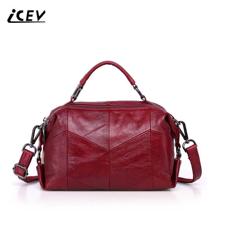ICEV New Fashion Plaid Simple Cow Leather Handbags Designer Handbags High Quality Women Leather Handbag Genuine Leather Handbags the new high quality imported green cowboy training cow matador thrilling backdrop of competitive entrance papeles