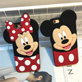 Lovely lady mobile phone rubber case for iPhone SE 5 5s 6 6s 7 plus 3d cute cartoon mickey minnie mouse soft silicone cover