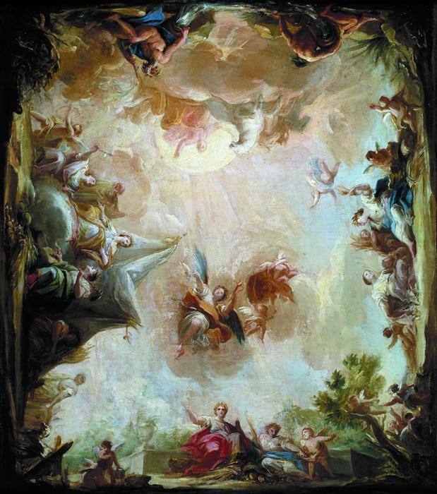 Popular christian angel art buy cheap christian angel art for Christian mural paintings