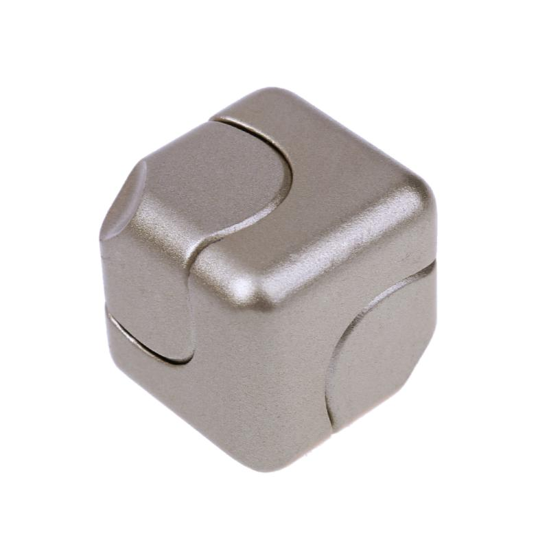Fidget Magic Cube Spinner Decompression Anti stress Fidget Cubic Finger Whirlwind Metal Cube Toys For Adult