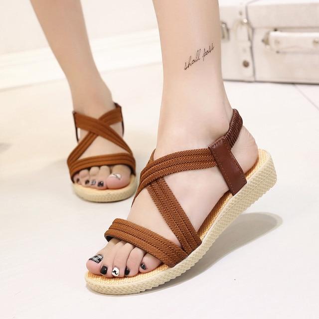 1e7b9bca13625 Women sandals 2017 new arrival ladies sandals summer high quality crozy flat  shoes