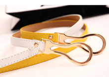 цена на Simple Wild Decoration Knotted Thin Belt Belts for Women 2019 Korean Style Yellow Color Buckle Belt for Female Ceinture Femme