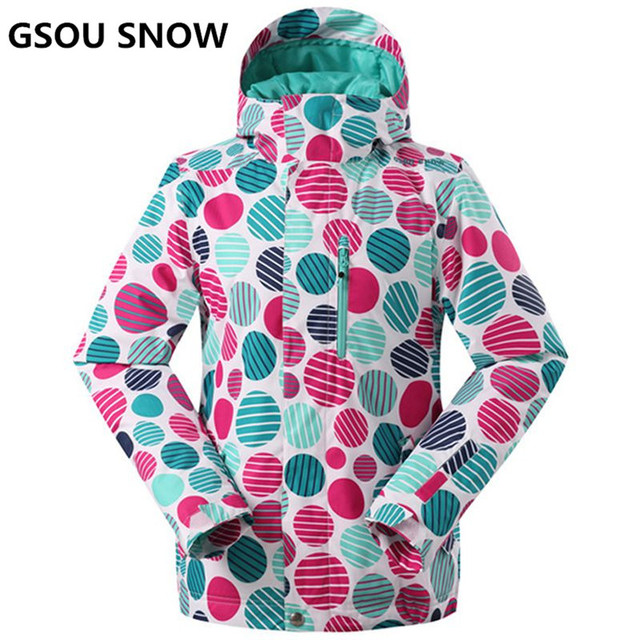 13838f0fe GSOU SNOW Women Ski Jacket Super Warm Girls Snow Jacket Waterproof ...