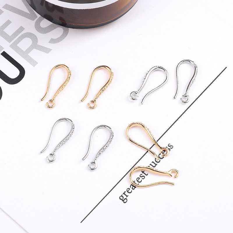 Golden Earrings Accessories For Women DIY Jewelry Making Wedding 10PCS/Pack High Quality Silver Beautiful Flower Gifts Ear Hook