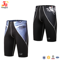 Athletic Apparel 3D Digital Printing Fitness Compression Running Shorts Skintight Base Layer Coolmax Quick Dry